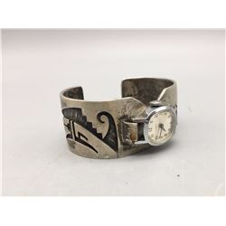 Hopi Overlay Watch Bracelet