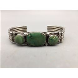 Older Three Stone Turquoise Bracelet