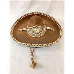 Vintage Mexican Felt Sombrero