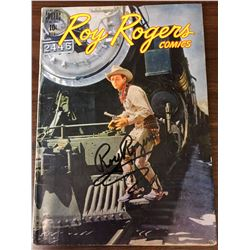 Signed Roy Rogers Comic