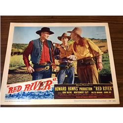 John Wayne - Red River Lobby Card