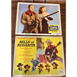 John Wayne and Roy Rogers Lobby Cards