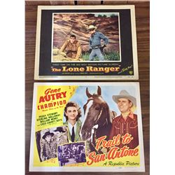 Lone Ranger and Gene Autry Lobby Cards