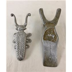 Two Vintage Aluminum Boot Jacks