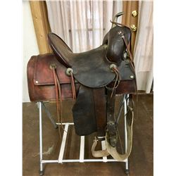 Antique R.T. Fraizer Cowboy Saddle