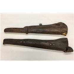 Two Antique Leather Rifle Scabbards