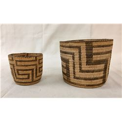 Pair of Antique Pima Baskets