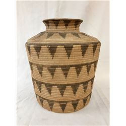 Large Antique Pima Olla Basket