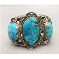 Hefty Vintage Turquoise Bracelet