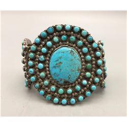 Older Turquoise Cluster Bracelet