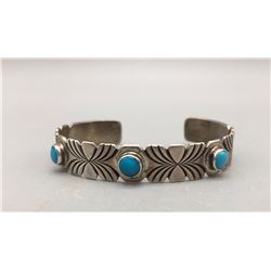 Turquoise and Sterling Silver Bracelet - Yellowhorse