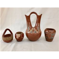 Group of Vintage Pueblo Red-Ware Pots