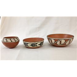 Three Pueblo Pots - Bowls
