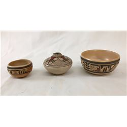 Three Nice Hopi Pots