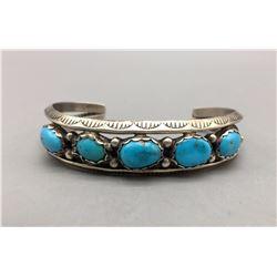 Vintage Five Stone Turquoise Bracelet
