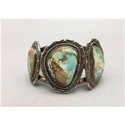 Nice Three Stone Vintage Turquoise Bracelet
