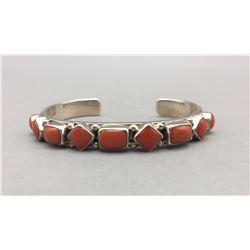 Nine Stone Coral Bracelet