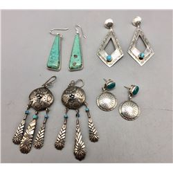Group of Four Pair of Earrings