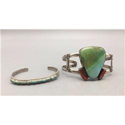 Two Sterling Silver Bracelets