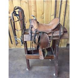 """Spotted"" Kids Saddle and Bridle"