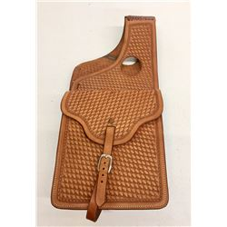 Nice Basket Weave Leather Saddle Bags