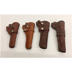Group of Four Vintage Leather Holsters