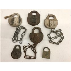 Group of Antique Railroad and Other Locks