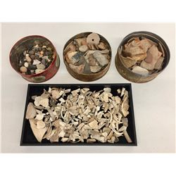 Group of Shell, Pottery, and Stone Artifacts