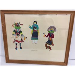 Original 1956 Navajo Watercolor -Tsadiasi