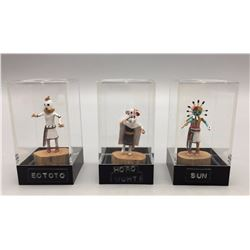 3 Mini Kachinas - Lawrence Namoki