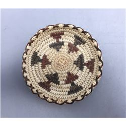 Miniature Polychrome Tohono O'Odham Basket