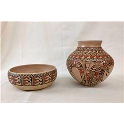 Two Hopi - Tewa - Laguna Pots