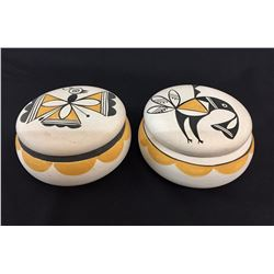 Two Lidded Acoma Pots