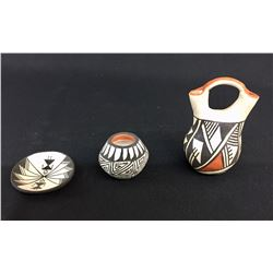 Three Fine Miniature Acoma Pots