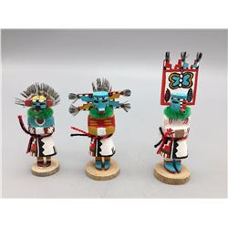 Group of Three Miniature Hopi Kachinas