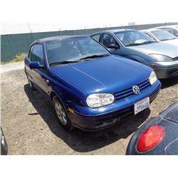 VW CABRIO 2002 T-DONATION