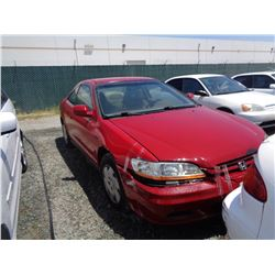 HONDA ACCORD 2002 SALV T/DONATION