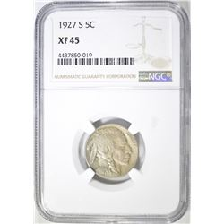 1927-S BUFFALO NICKEL NGC XF-45