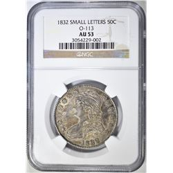 1832 SMALL LETTER BUST HALF