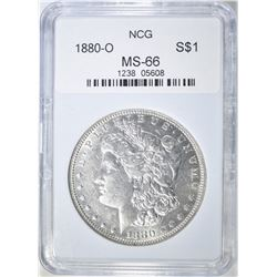 1880-O MORGAN DOLLAR, NCG GEM BU