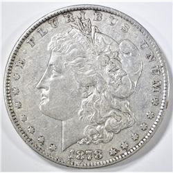 1878 8TF MORGAN DOLLAR XF/AU