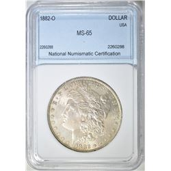 1882-O MORGAN DOLLAR  NNC GEM BU
