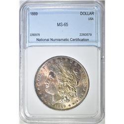 1889 MORGAN DOLLAR  NNC GEM BU