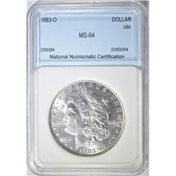 1883-O MORGAN DOLLAR  NNC CH/GEM BU