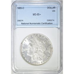 1885-O MORGAN DOLLAR  NNC GEM BU+