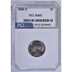 1950-D JEFFERSON NICKEL PCI SUPERB GEM BU