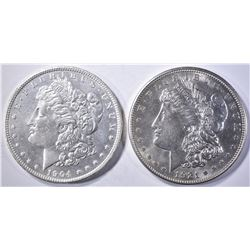 1904-O & 1921-D MORGAN DOLLARS  BU