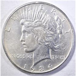 1934 PEACE DOLLAR  CH AU
