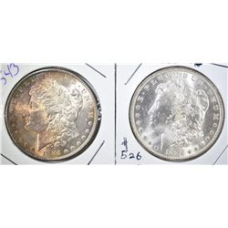 1884 COLOR & 1884-O CH BU MORGAN DOLLARS
