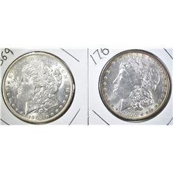 1900-O & 1904-O CH BU MORGAN DOLLARS, CH BU